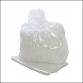Heavy duty clear plastic sack